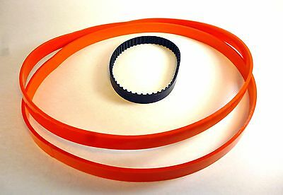 "Set of 2 URETHANE Band Saw TIRES + Toothed Belt for 9"" MASTERCRAFT 55-6719-6"