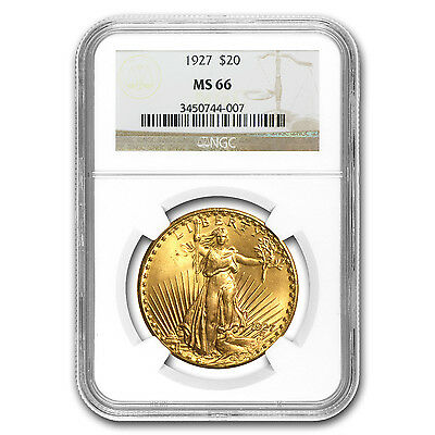 $20 Saint-Gaudens Gold Double Eagle Coin - Random Year - MS-66 NGC - SKU #23196