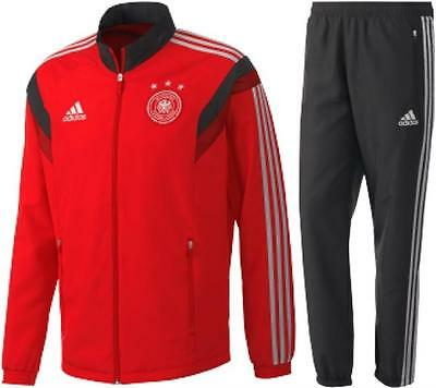 New Adidas Germany Presentation Mens Tracksuit Red D83029 - Medium