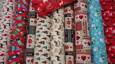 Christmas Festive 100% Cotton Fabric 135cm wide sold by the metre