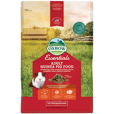 Oxbow Essentials Adult Guinea Pig food w/vitamins & Minerals Cavy Cuisine 5Lbs