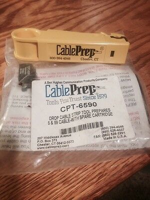 Cable Prep CPT 6590 Drop Cable Stripping Tool 59/6  NEW