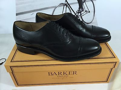 Barker Le Harve Goodyear Welted Richelieus Brogue Shoes Zapatos Handmade New