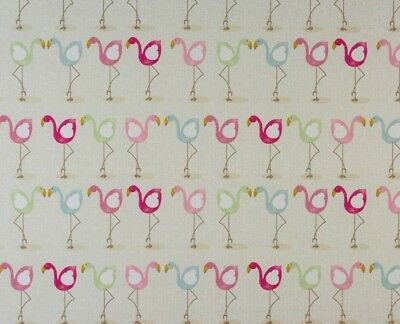 Fryetts FLAMINGO Cotton PVC Fabric WIPE CLEAN Tablecloth Oilcloth