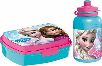 Frozen Porta Merenda Lunch Box e borraccia Elsa e Anna Frozen Disney