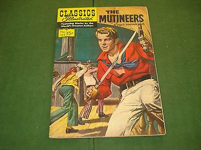 Classics Illustrated #122, 1St Edition Of The Mutineers High Grade