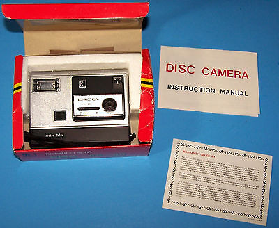 Very Rare Vintage 1980's Ronrico Rum Disc Camera Model RR-80 in Box Instructions