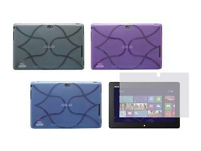 TPU Skin Cover Case and Screen Protector for ASUS VivoTab Smart ME400C Tablet