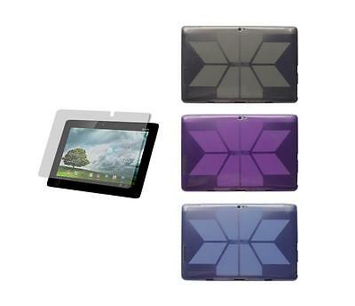 TPU Skin Cover Case + Screen Protector for ASUS Transformer Pad Infinity TF700T