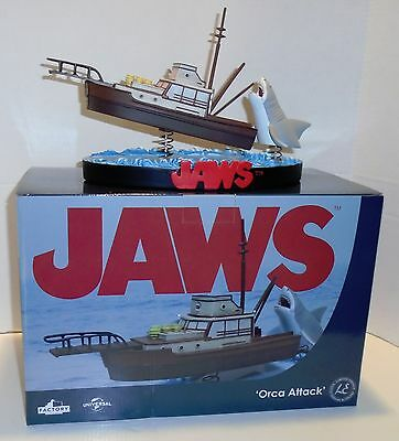 "JAWS ""ORCA ATTACK"" Shakems Premium Motion Statue Factory Entertainment NEW"