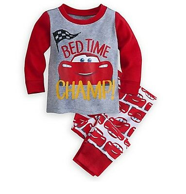Disney Store Cars Lightning McQueen Baby Pajamas PJ's Size 6-9 12-18 Months NWT