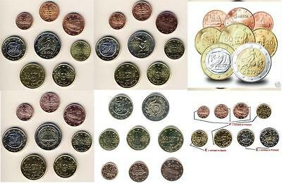 Greece  Greek Euro Kms Sets From 2002 To 2015 Unc From Rolls Grece Griechenland