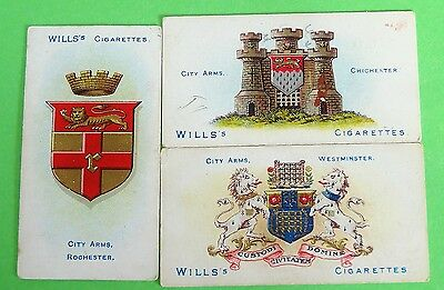 Cigarette Card WD & HO Wills City Arms Second Series 1930's VGC 95