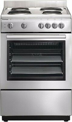 Euromaid 60cm Freestanding Cooker Stainless Steel Solid Hotplates Model ES60
