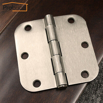 "Probrico Satin Nickel 3.5""W*5/8 Radius Door Hinges Brushed Nickel Interior Round"