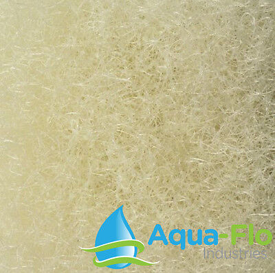 "Coarse Filter Media Medium Density 2"" x 28"" x 10' Cream Beige for Aquascape Mats"