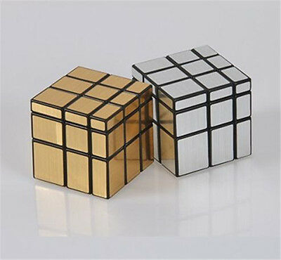 Novel 3x3x3 Mirror ShengShou Cube Silver Gold Surface Puzzle Magic Speed Cube