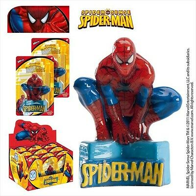 Candelina Sagomata 3D Spiderman Uomo Ragno Cm. 9 Feste E Party