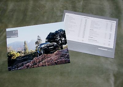 2007 Hummer H3 Specification Brochure (German)