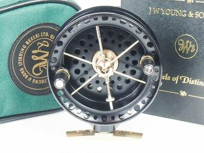 JW Young Sons Ray Walton Rolling CentrePin Centre pin Black Reel