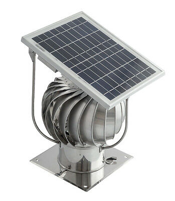 Stainless Steel Hybrid Chimney Exhaust Assisting Cowl with Solar Panel 150mm
