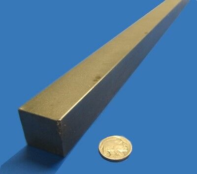 """Square 1018 Steel Bar, 1.0"""" Thick x 1.0"""" Wide x 36"""" Length"""