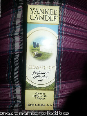 YANKEE CANDLE Clean Cotton POTPOURRI REFRESHER OIL Fresh Air / Laundry Scent NEW