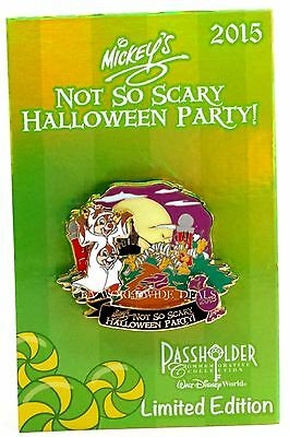 NEW Disney WDW Mickey's Not So Scary Halloween Party 2015 Passholder Pin LE