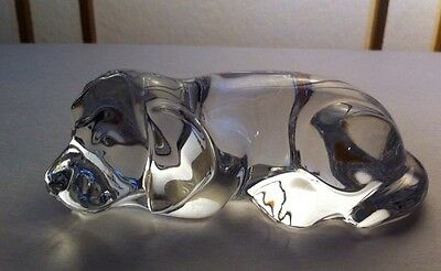 Princess House West Germany Lead Crystal Laying Dog Figurine A1