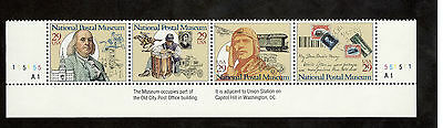 2779-82 National Postal Museum Strip W/Plate Numbers MNH (Free shipping offer)