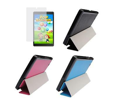 Slim Folio Cover Case + Screen Protector for Nextbook 8 NXW8QC16G Tablet Win 8.1