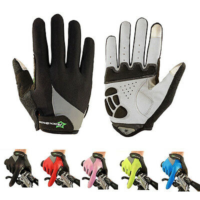 RockBros Full Finger Cycling Gloves Gel Bike Long Texting Touchscreen Gloves