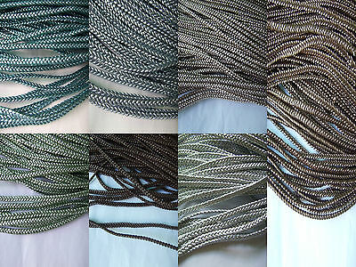 4x2mm Flat PU Braided Leather High Quality Finding Cord String Lace Thong