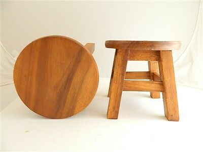 Childs Childrens Wooden Stool - Plain Top Step Stool