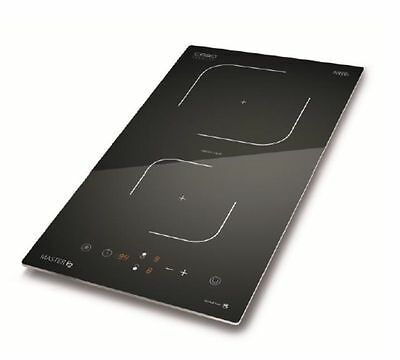Caso Master E2 electric induction cooker with 2 zones digital display 2000w