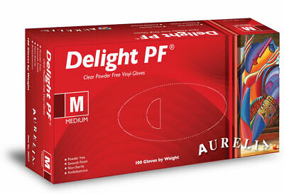 Powder & Latex FREE Aurelia DELIGHT Gloves (WITH VAT RECEIPT) 100 200 1000 2000
