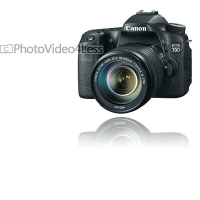 NEW Canon EOS 70D 20.2 MP Digital SLR Camera + EF-S 18-135mm F3.5-5.6 IS STM USA