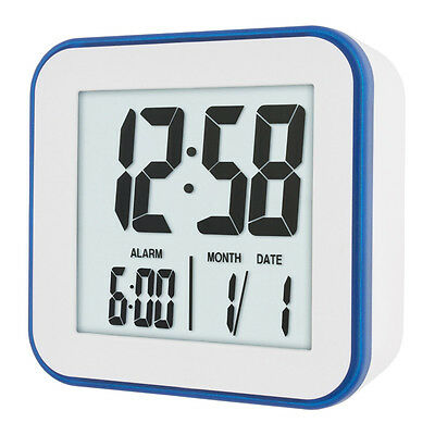 Acctim Knox LCD Alarm Clock In White 15012 12 Months Warranty