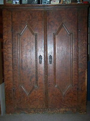 17th CENTURY RUSTIC GERMAN ARMOIRE