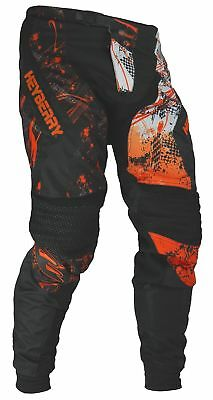 Heyberry Motocross Enduro Quad Hose schwarz orange Gr. M L XL XXL