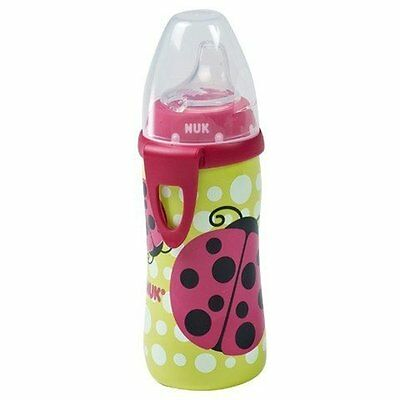 NEW NUK Active Cup with Clip Silicone Spout 12m+ 10 Oz. (Girls / Ladybug Design)