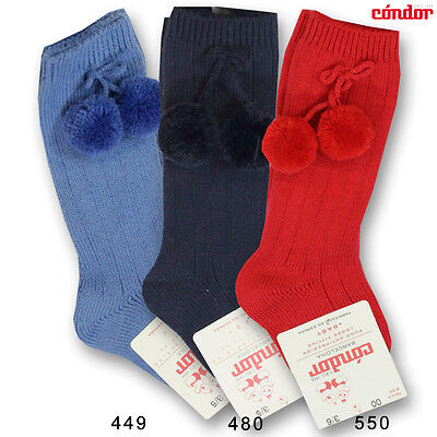 new infants baby official classic Spanish quality pom pom knee socks all colour