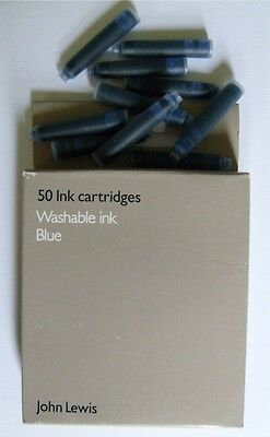 John Lewis Blue/Black Ink Cartridges with/without Fountain Pen