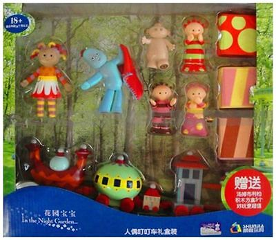 Large In The Night Garden Character Figure Figurines & Ninky Nonk Set Toy Cake