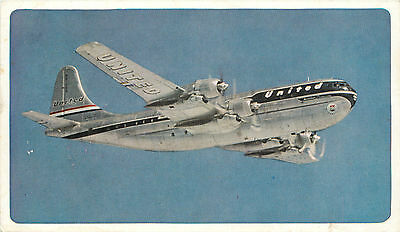 Twin Deck Mainliner Stratocruiser ~UNITED AIRLINES~ Airline Issued Postcard 1952