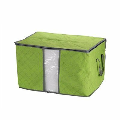 Green Quilt Blanket Pillow Storage Bag Box Container Non-woven Fabric ED