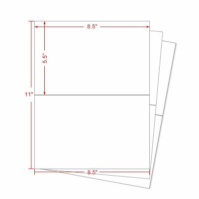 1000 Half Sheet Shipping Labels 8.5x5.5 Self Adhesive 2 Labels Per Sheet USPS