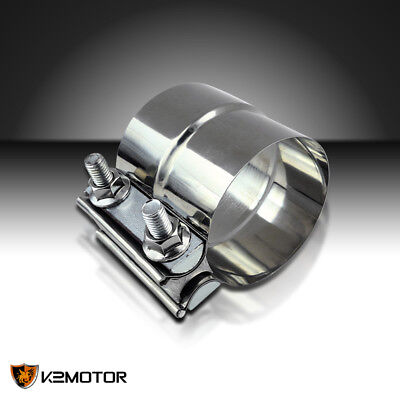 """Band Muffler Clamp 2.5 2 1/2"""" Stainless Steel Exhaust Downpipe Joint"""