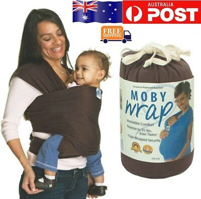 Coffee  Fashion Moby Wrap Infant Baby Carrier Sling Top 0-3 Years AU