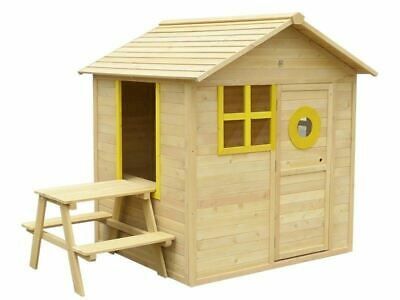 Lifepsan Kids Bandicoot Cubby House Set With Picnic Table Outdoor Play Equipment